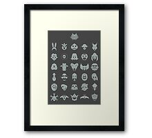 Mask Collection Framed Print