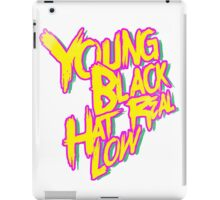 Young, Black, Hat Real Low iPad Case/Skin