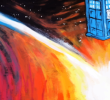 Time Travel Tardis Sticker