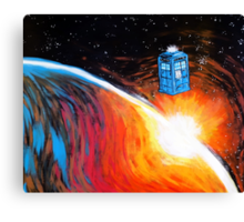 Time Travel Tardis Canvas Print