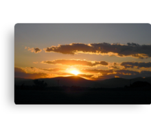 Another Virginia Sunset Canvas Print