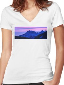 MT sunrise  Women's Fitted V-Neck T-Shirt
