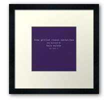 Grilled Cheese and Kale - Swan Queen (white) Framed Print