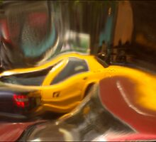 abstract taxi & cars  by andymars