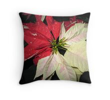 POINTSETTIA TWO TONE Throw Pillow