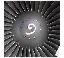 Airbus A-319 Compressor/Spinner Poster