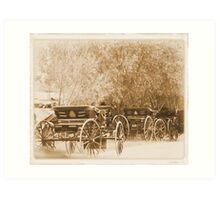amish wagons Art Print