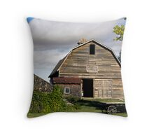 Livery Barn Rowely, Alberta Throw Pillow