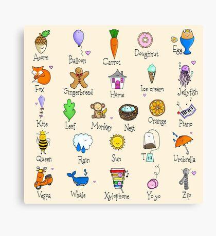 Nursery ABC Canvas Print