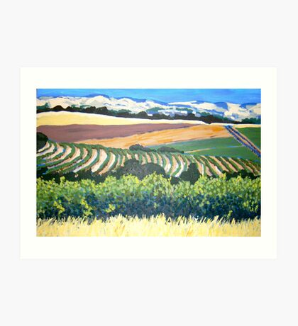 View from Chapel Hill Winery, McLaren Vale Art Print