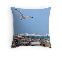 Brighton Seafront Throw Pillow