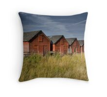 Red Barns Series 2 Throw Pillow