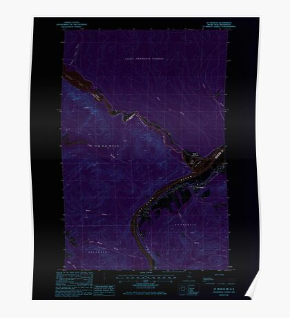 Maine USGS Historical Map St Francis 103002 1985 24000 Inversion Poster