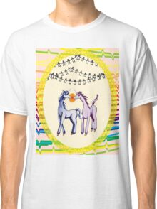 Feeling 13 again~ Unicorns in love with penguins Classic T-Shirt