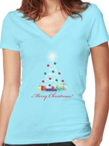Christmas Tee! Women's Fitted V-Neck T-Shirt