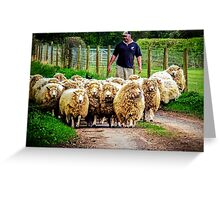Flock On The Way Greeting Card