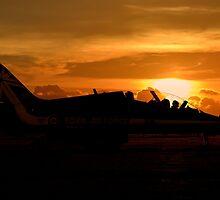 Scampton Sunset  by J Biggadike
