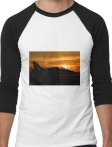 Scampton Sunset  Men's Baseball ¾ T-Shirt