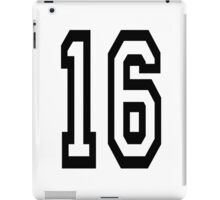 16, TEAM SPORTS, NUMBER 16, SIXTEEN, SIXTEENTH, Sweet sixteen, Competition,  iPad Case/Skin