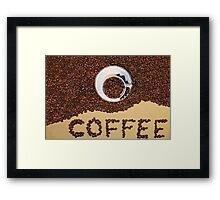 Coffee Beans Framed Print