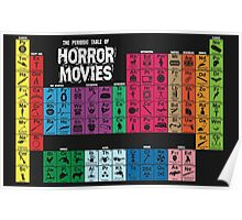 Periodic Table of Horror Movies Poster