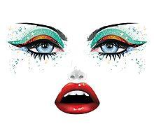Carnival Makeup Photographic Print
