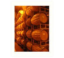 Wine Barrels, Napa 2008 Art Print