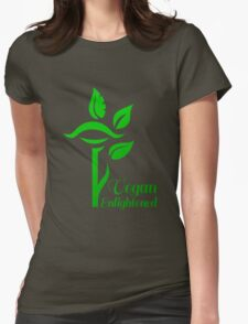 Vegan Enlightened Womens Fitted T-Shirt