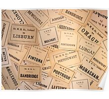 GREAT NORTHERN RAILWAY IRELAND LUGGAGE LABELS 1930'S-1940'S Poster
