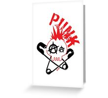 Skull Punk Greeting Card
