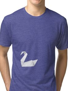 Origami swans 2 Tri-blend T-Shirt