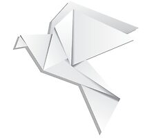 Origami pigeon by AnnArtshock