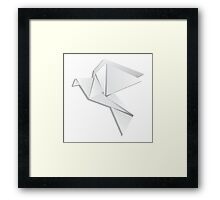 Origami pigeon Framed Print