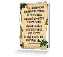Christmas message within a message Greeting Card