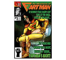 the Adventures of Fartman Photographic Print