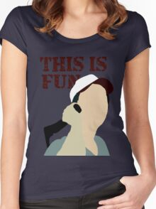 The Walking Dead: This Is Fun Women's Fitted Scoop T-Shirt