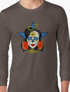 Wonder Woman Sugar Skull Long Sleeve T-Shirt