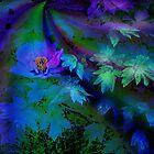 Blue Floral by CarolM