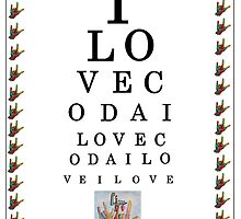 I LOVE CODA Eye Chart by EloiseArt