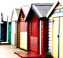 Brighton Beach Huts by Camilla