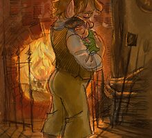 Bilbo and Baby Frodo Baggins by livielightyear