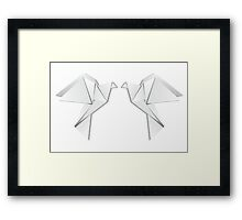 Origami pigeon 4 Framed Print