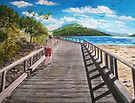 Boardwalk, Long Island, Australia by © Linda Callaghan