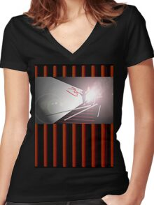 History  005 Women's Fitted V-Neck T-Shirt