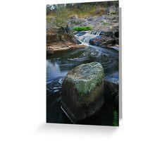 Broken river. Greeting Card