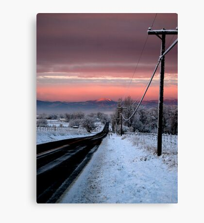 Into Alpenglow  Canvas Print