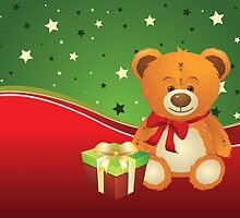 Teddy Bear with Gift Box 3 by AnnArtshock