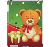 Teddy Bear with Gift Box 3 iPad Case/Skin