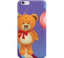 Teddy Bear with Red Bow iPhone Case/Skin