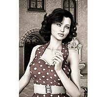 Vintage Woman Photographic Print